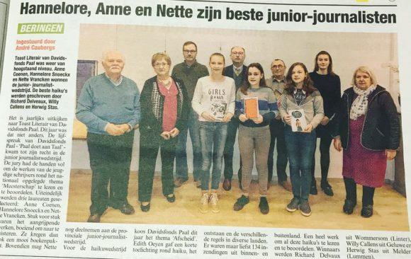 Beste junior-journalisten